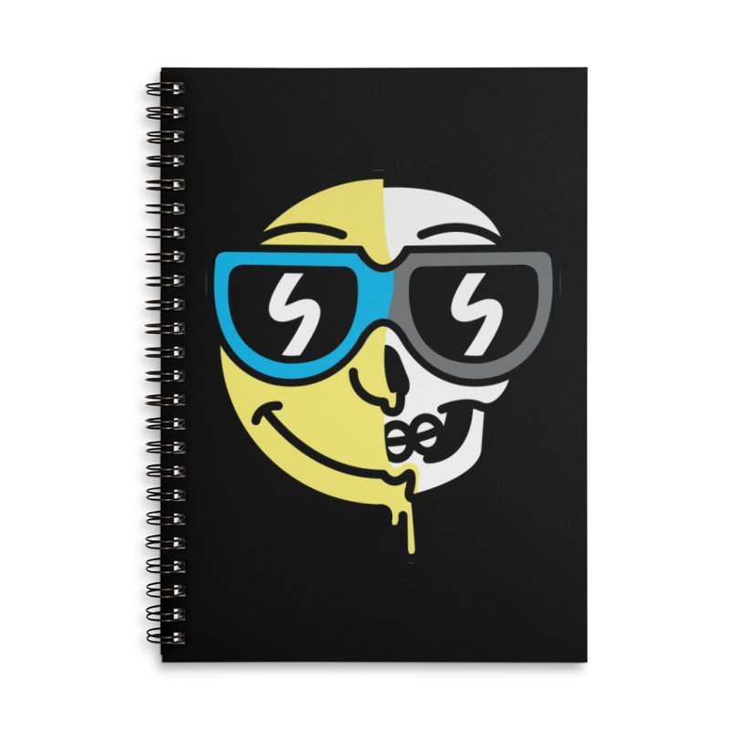 Cool Halfsy Smiley Accessories Notebook by SteveOramA