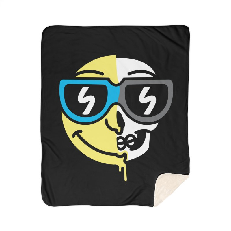 Cool Halfsy Smiley Home Blanket by SteveOramA