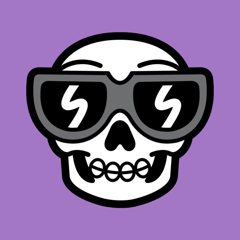 Cool Skull (portrait) Kids T-Shirt by SteveOramA