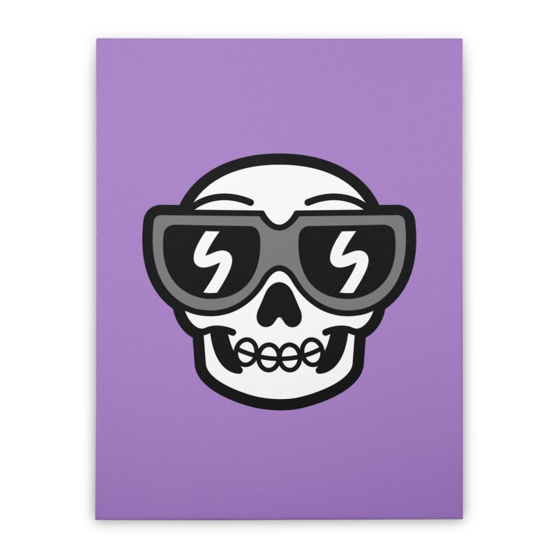 Cool Skull (portrait) Home Stretched Canvas by SteveOramA