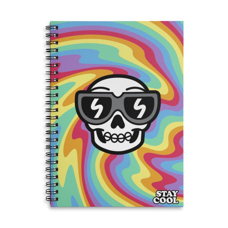 Cool Trippy Skull Accessories Notebook by SteveOramA