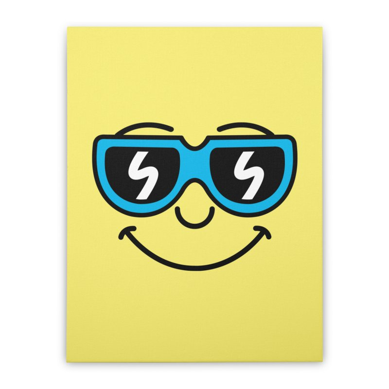 Cool Smiley (face) Home Stretched Canvas by SteveOramA