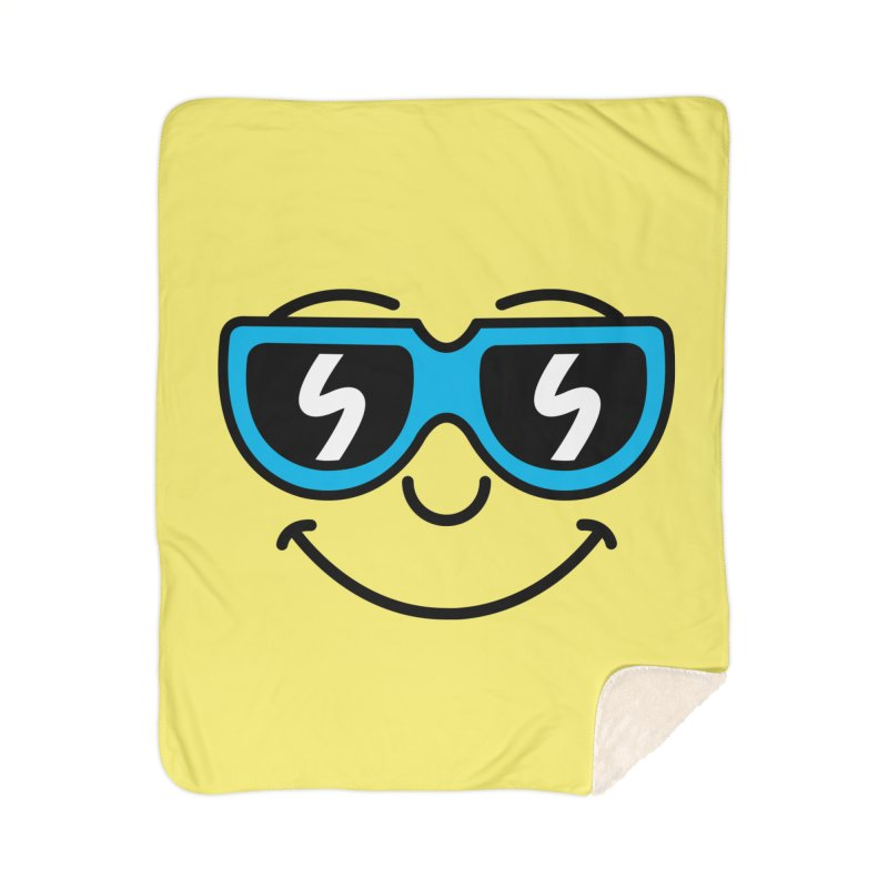 Cool Smiley (face) Home Blanket by SteveOramA