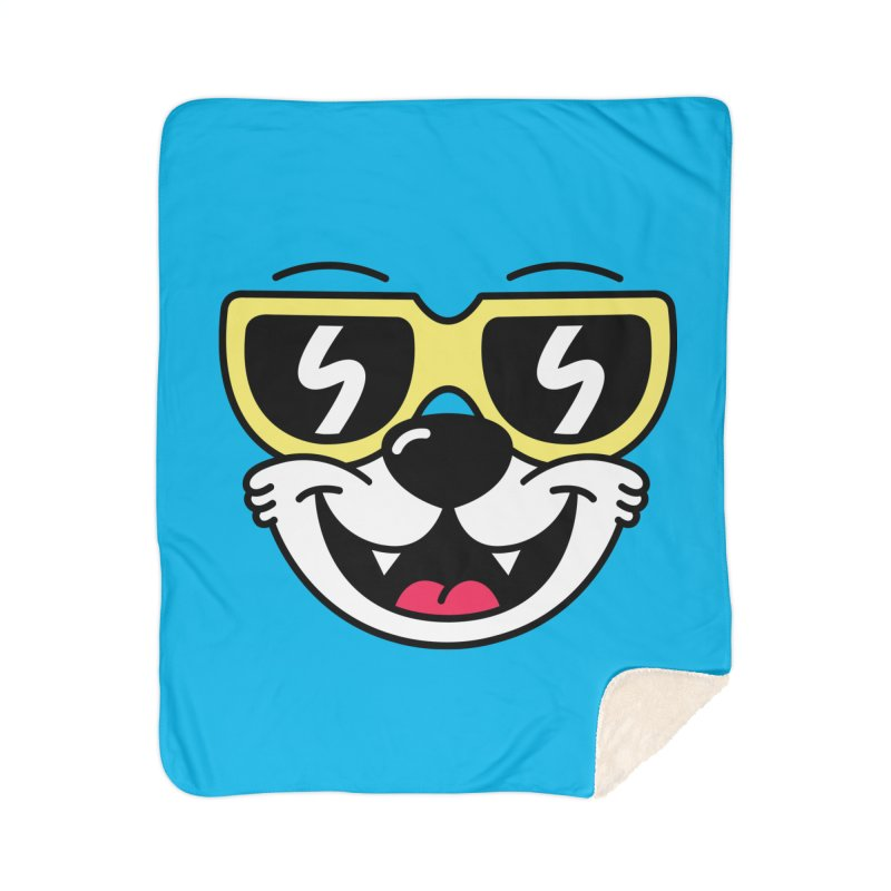 Cool Bear (face) Home Blanket by SteveOramA