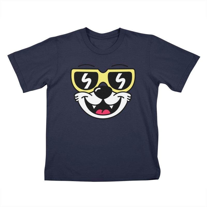 Cool Bear (face) Kids T-Shirt by SteveOramA