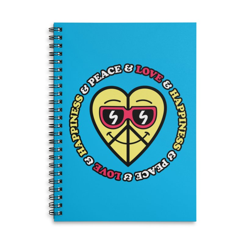 Peace & Love & Happiness Accessories Notebook by SteveOramA