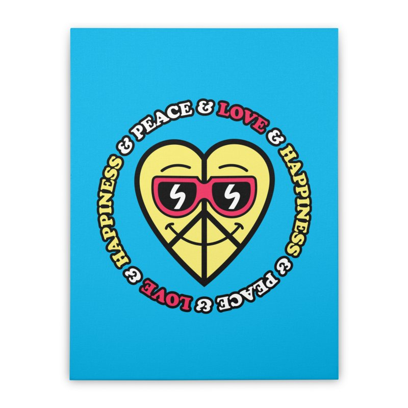 Peace & Love & Happiness Home Stretched Canvas by SteveOramA