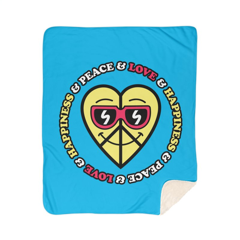 Peace & Love & Happiness Home Blanket by SteveOramA