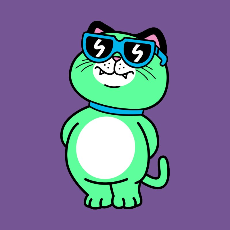 Cool Cat (full body) Accessories Notebook by SteveOramA