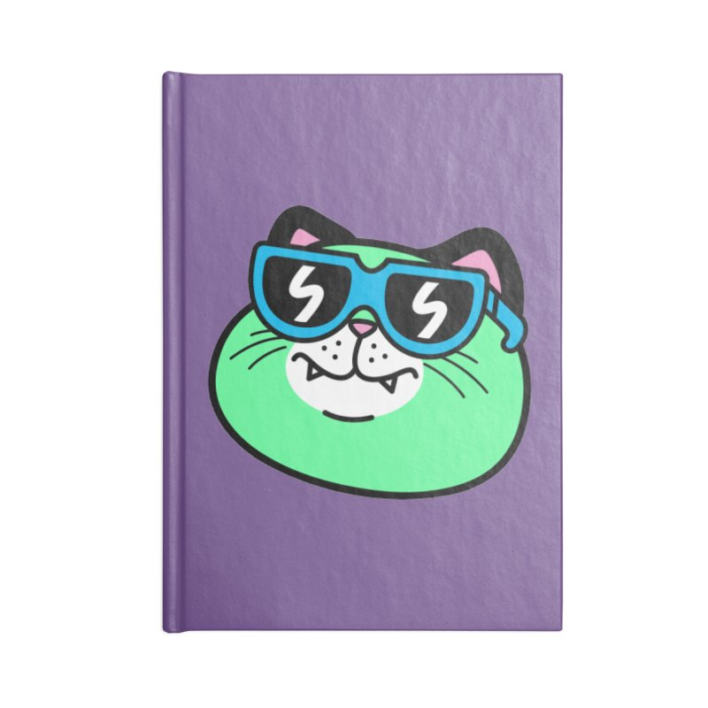 Cool Cat (portrait) Accessories Notebook by SteveOramA