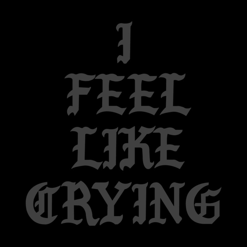 I Feel Like Crying Men's Zip-Up Hoody by It's Me Stevie Leigh