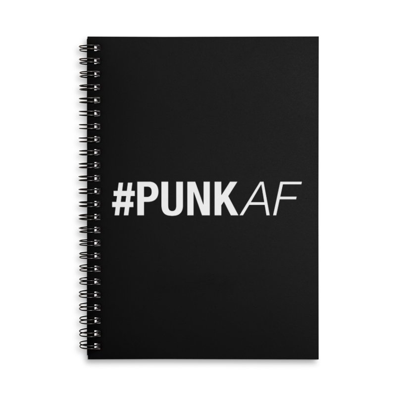 #PunkAF Accessories Lined Spiral Notebook by It's Me Stevie Leigh