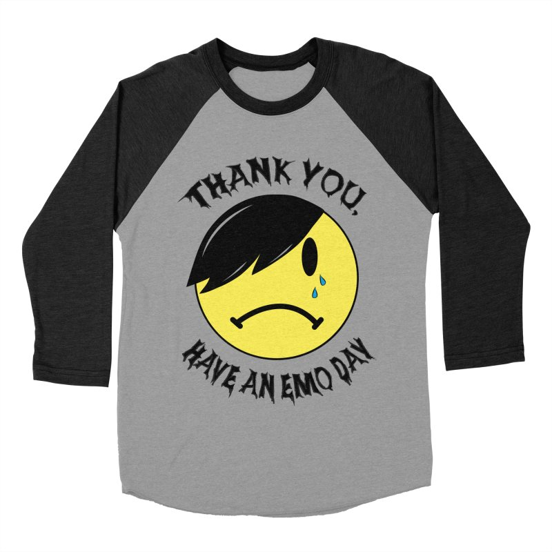 Thank You, Have An Emo Day! Men's Baseball Triblend Longsleeve T-Shirt by It's Me Stevie Leigh