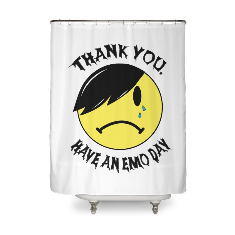 Thank You, Have An Emo Day! Home Shower Curtain by It's Me Stevie Leigh