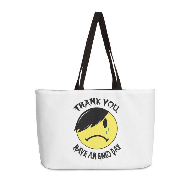 Thank You, Have An Emo Day! Accessories Weekender Bag Bag by It's Me Stevie Leigh