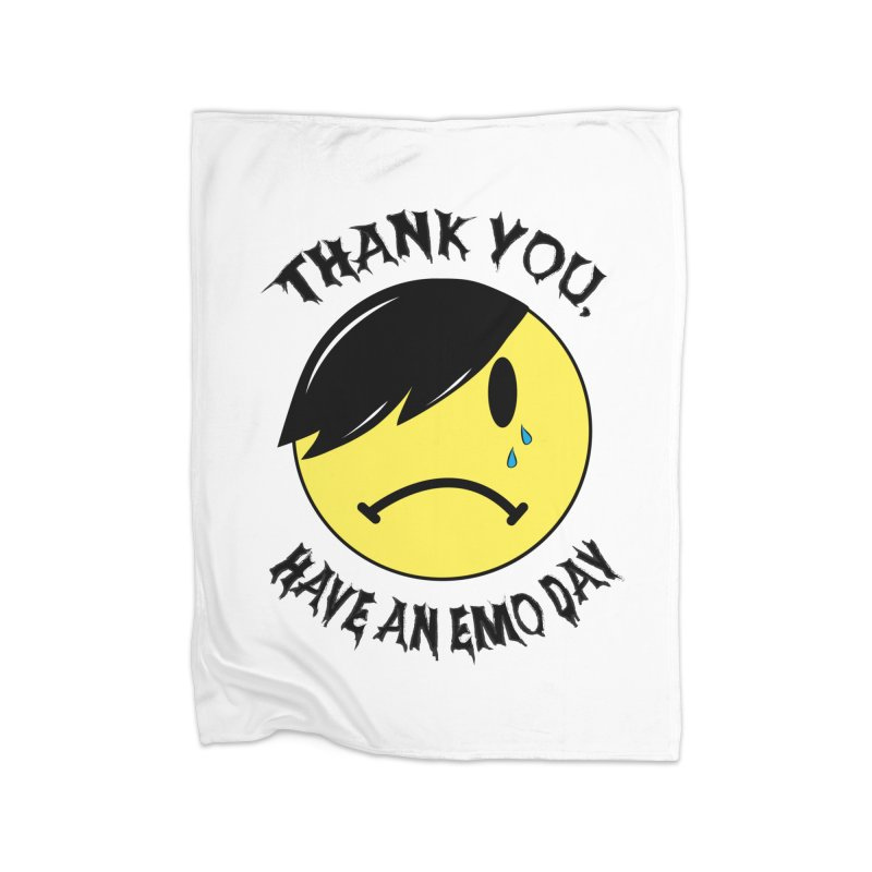 Thank You, Have An Emo Day! Home Fleece Blanket Blanket by It's Me Stevie Leigh