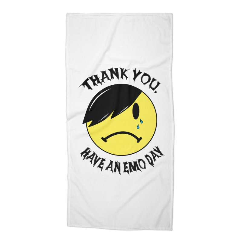 Thank You, Have An Emo Day! Accessories Beach Towel by It's Me Stevie Leigh