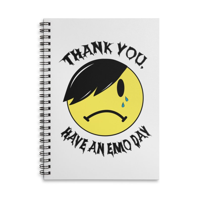 Thank You, Have An Emo Day! Accessories Lined Spiral Notebook by It's Me Stevie Leigh