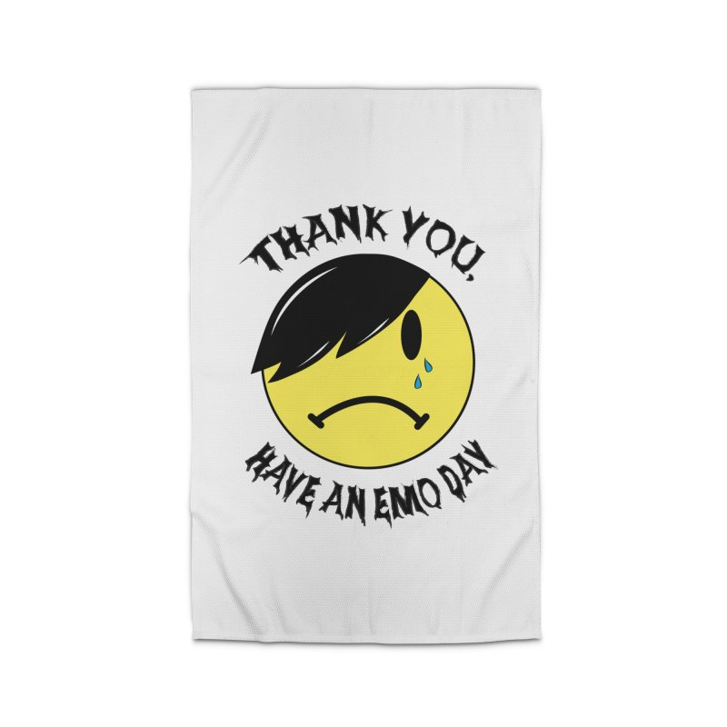 Thank You, Have An Emo Day! Home Rug by It's Me Stevie Leigh