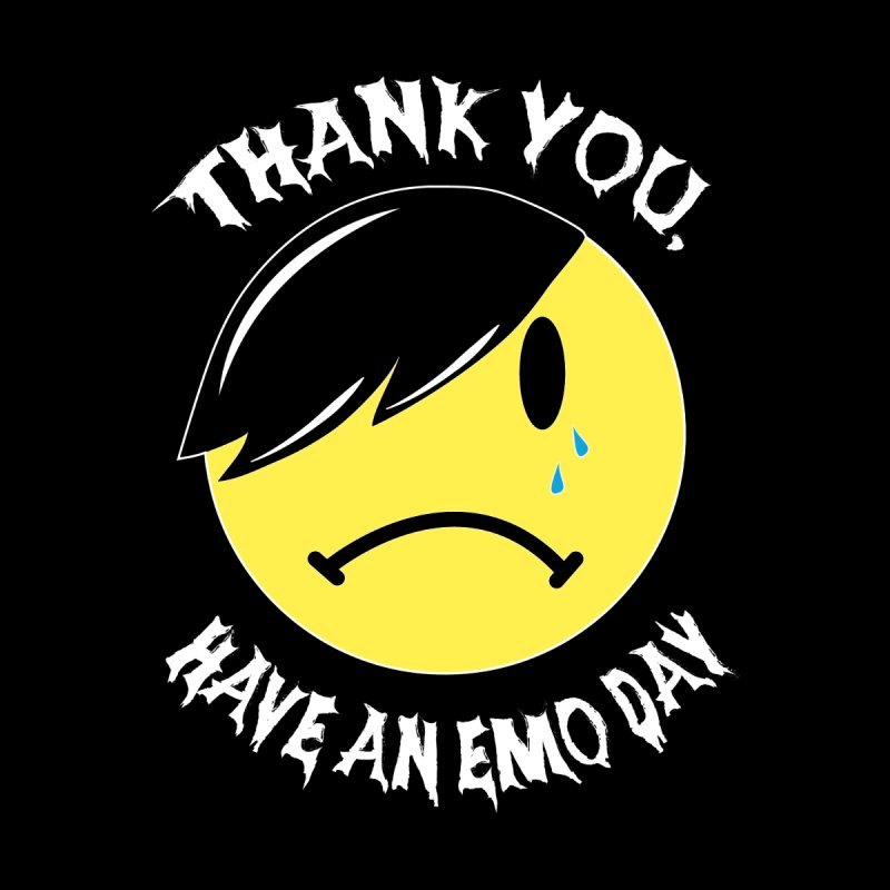 Thank You, Have an Emo Day! in Emo Black Men's T-Shirt by It's Me Stevie Leigh