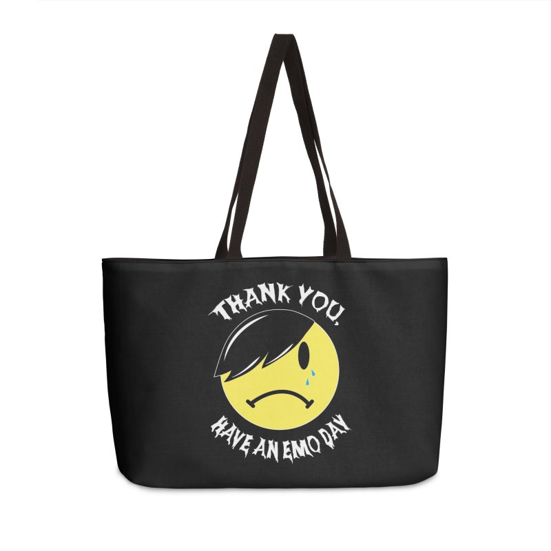 Thank You, Have an Emo Day! in Emo Black Accessories Weekender Bag Bag by It's Me Stevie Leigh