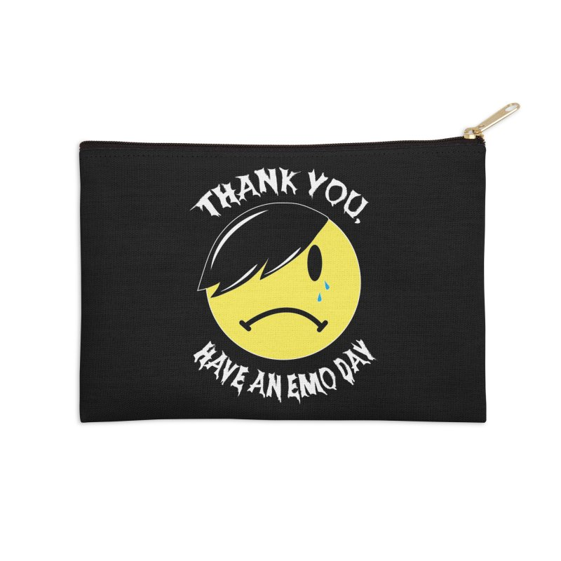 Thank You, Have an Emo Day! in Emo Black Accessories Zip Pouch by It's Me Stevie Leigh