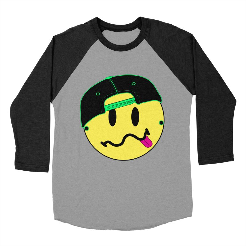 Pop Punk Kid in Men's Baseball Triblend Longsleeve T-Shirt Heather Onyx Sleeves by It's Me Stevie Leigh