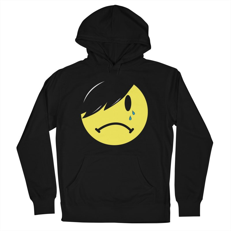 Emo Kid in Black Men's French Terry Pullover Hoody by It's Me Stevie Leigh