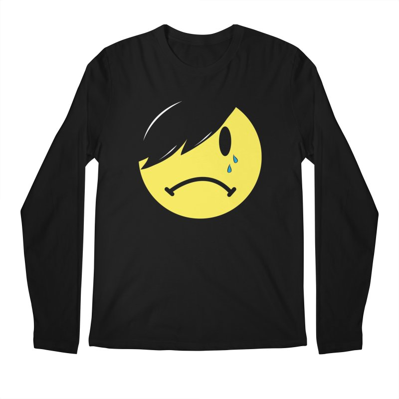 Emo Kid in Black Men's Regular Longsleeve T-Shirt by It's Me Stevie Leigh