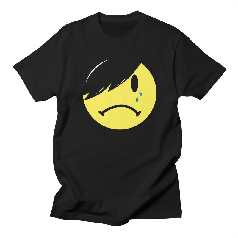 Emo Kid in Black in Men's Regular T-Shirt Black by It's Me Stevie Leigh
