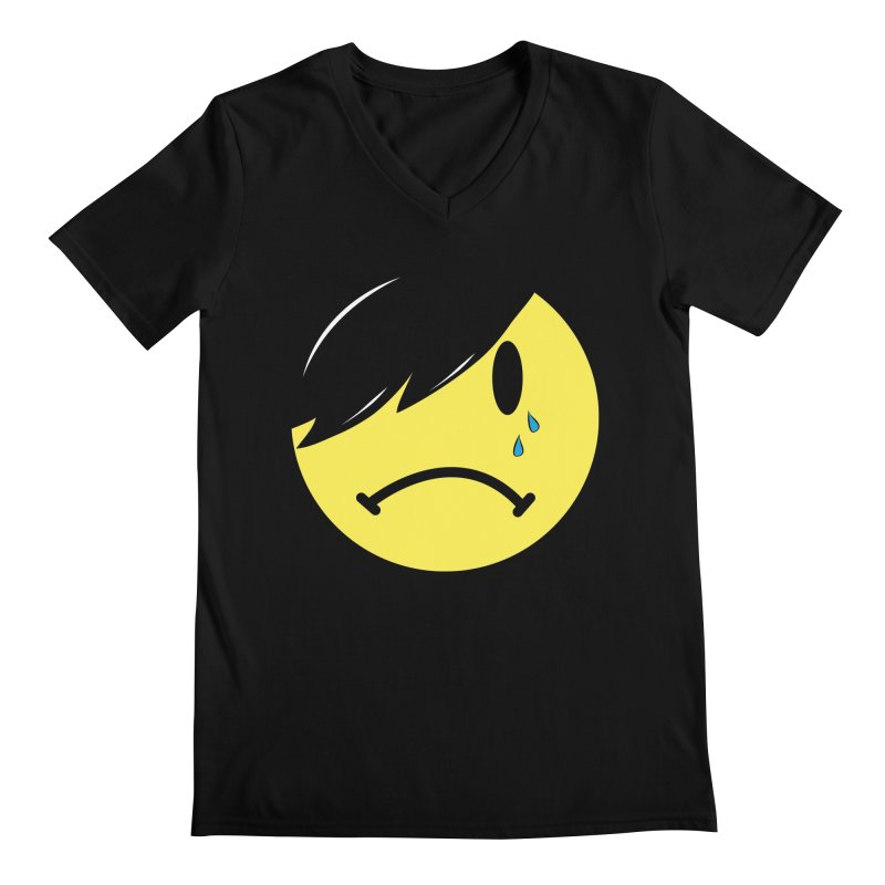 Emo Kid in Black Men's Regular V-Neck by It's Me Stevie Leigh