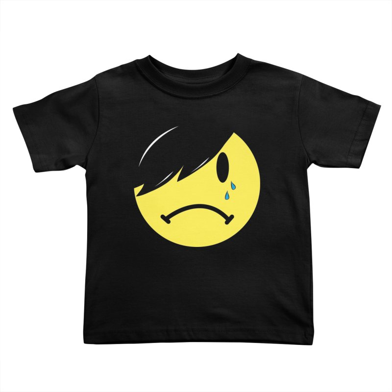 Emo Kid in Black Kids Toddler T-Shirt by It's Me Stevie Leigh