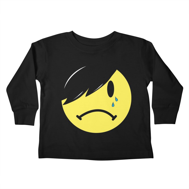 Emo Kid in Black Kids Toddler Longsleeve T-Shirt by It's Me Stevie Leigh