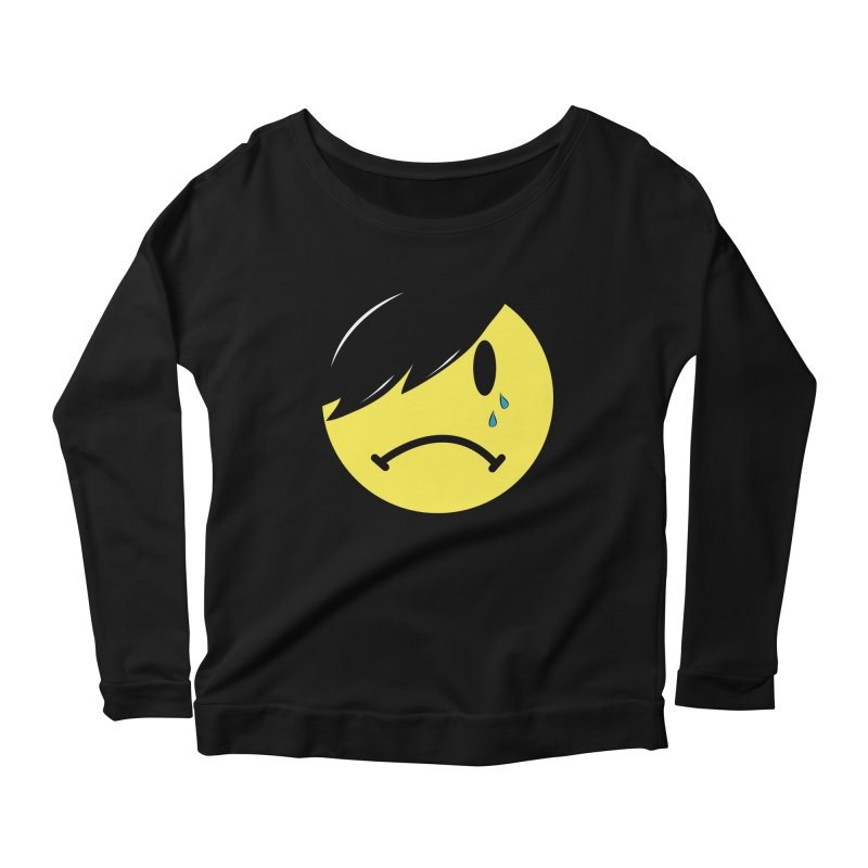 Emo Kid in Black Women's Scoop Neck Longsleeve T-Shirt by It's Me Stevie Leigh