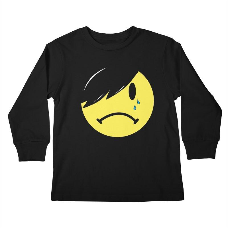 Emo Kid in Black Kids Longsleeve T-Shirt by It's Me Stevie Leigh