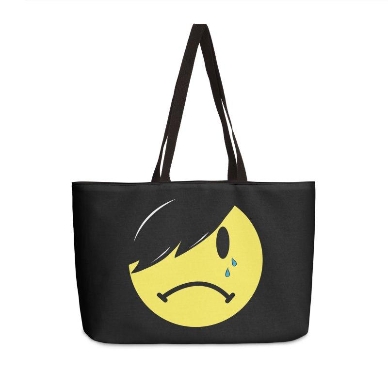 Emo Kid in Black Accessories Weekender Bag Bag by It's Me Stevie Leigh