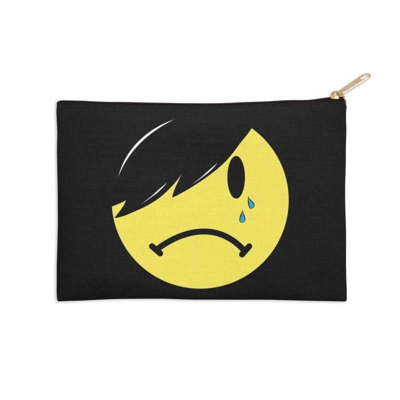 Emo Kid in Black Accessories Zip Pouch by It's Me Stevie Leigh