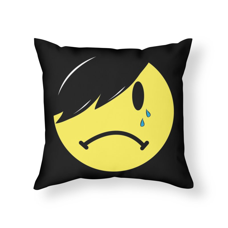 Emo Kid in Black Home Throw Pillow by It's Me Stevie Leigh