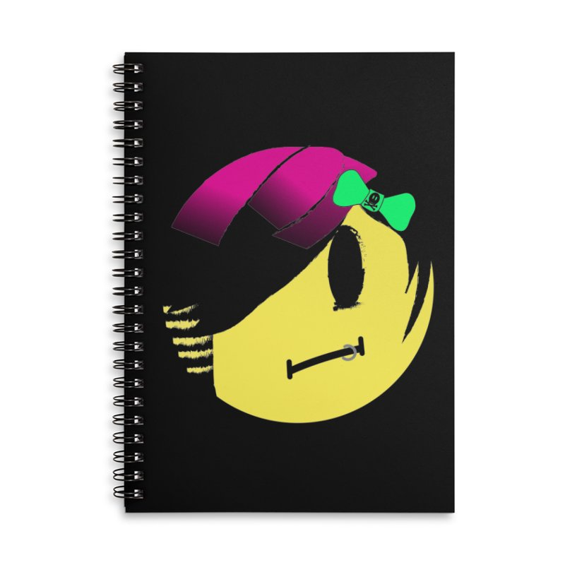 Scene Queen in Black Accessories Lined Spiral Notebook by It's Me Stevie Leigh