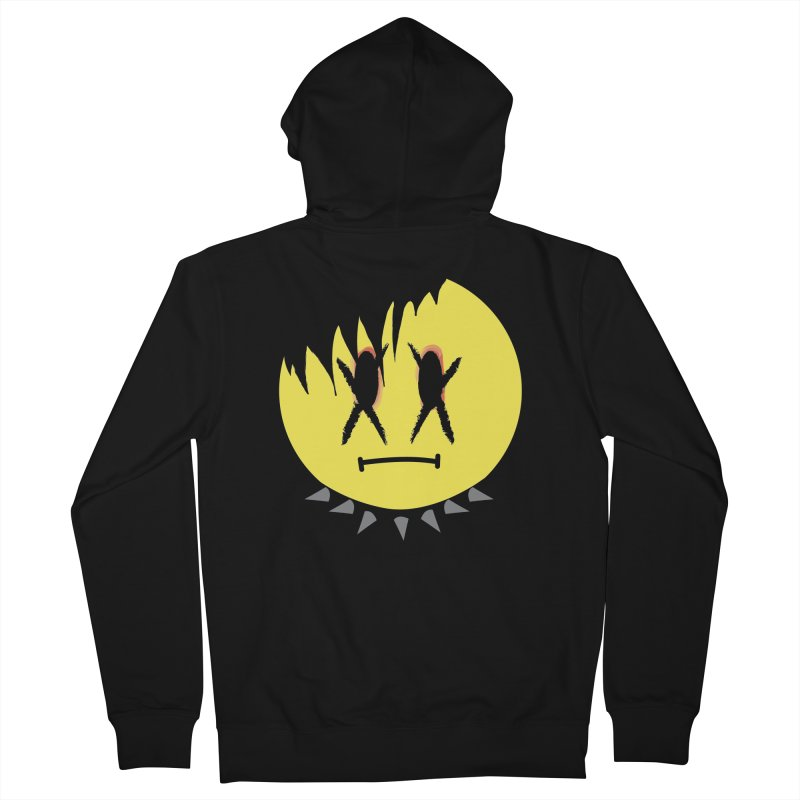 Goth Kid in Black Men's French Terry Zip-Up Hoody by It's Me Stevie Leigh