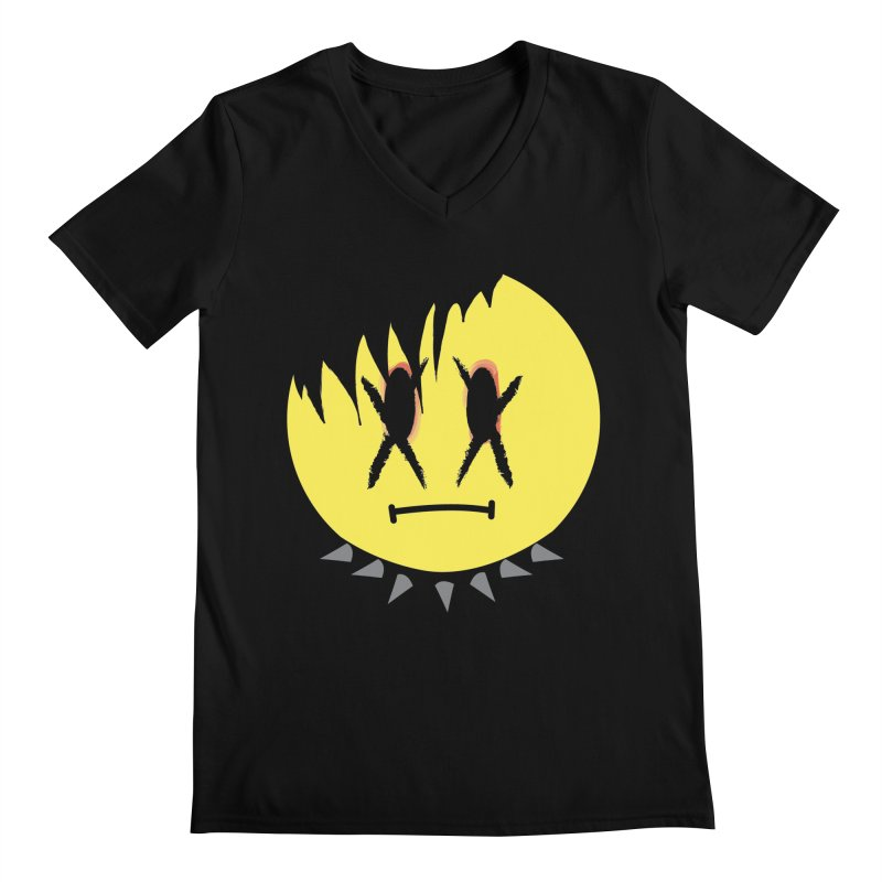 Goth Kid in Black Men's Regular V-Neck by It's Me Stevie Leigh