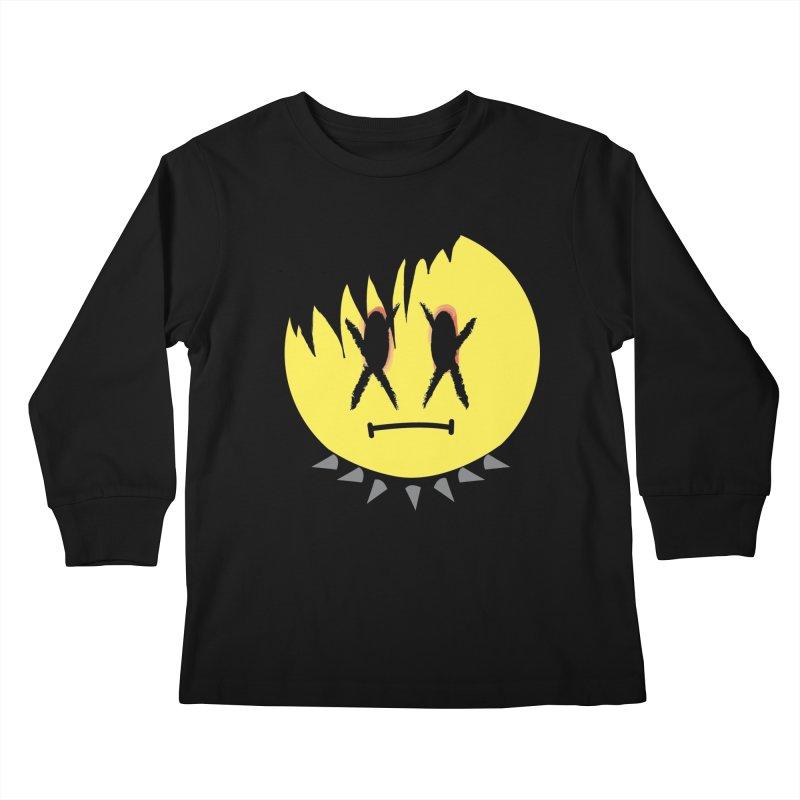 Goth Kid in Black Kids Longsleeve T-Shirt by It's Me Stevie Leigh