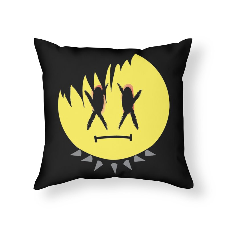 Goth Kid in Black Home Throw Pillow by It's Me Stevie Leigh