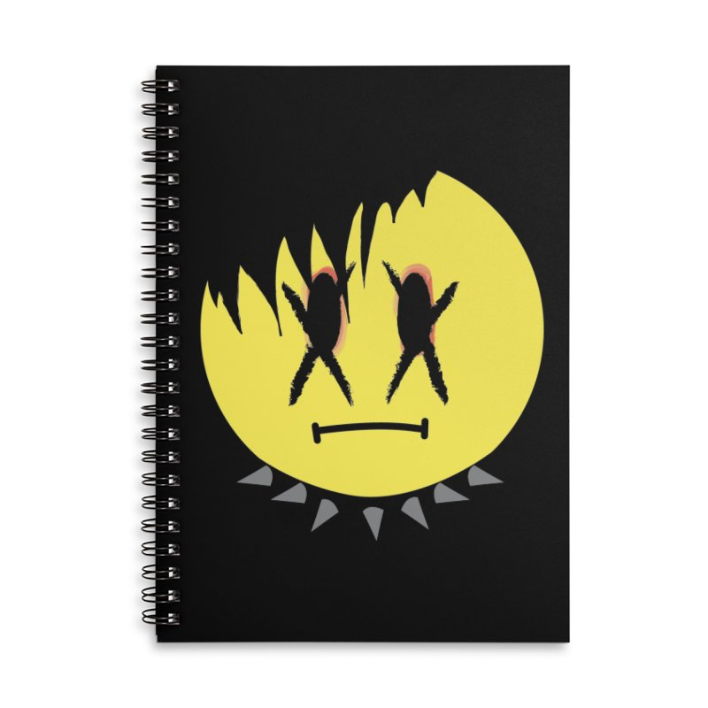 Goth Kid in Black Accessories Lined Spiral Notebook by It's Me Stevie Leigh