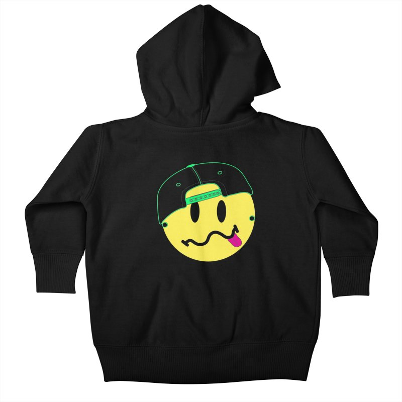 Pop Punk Kid in Black Kids Baby Zip-Up Hoody by It's Me Stevie Leigh