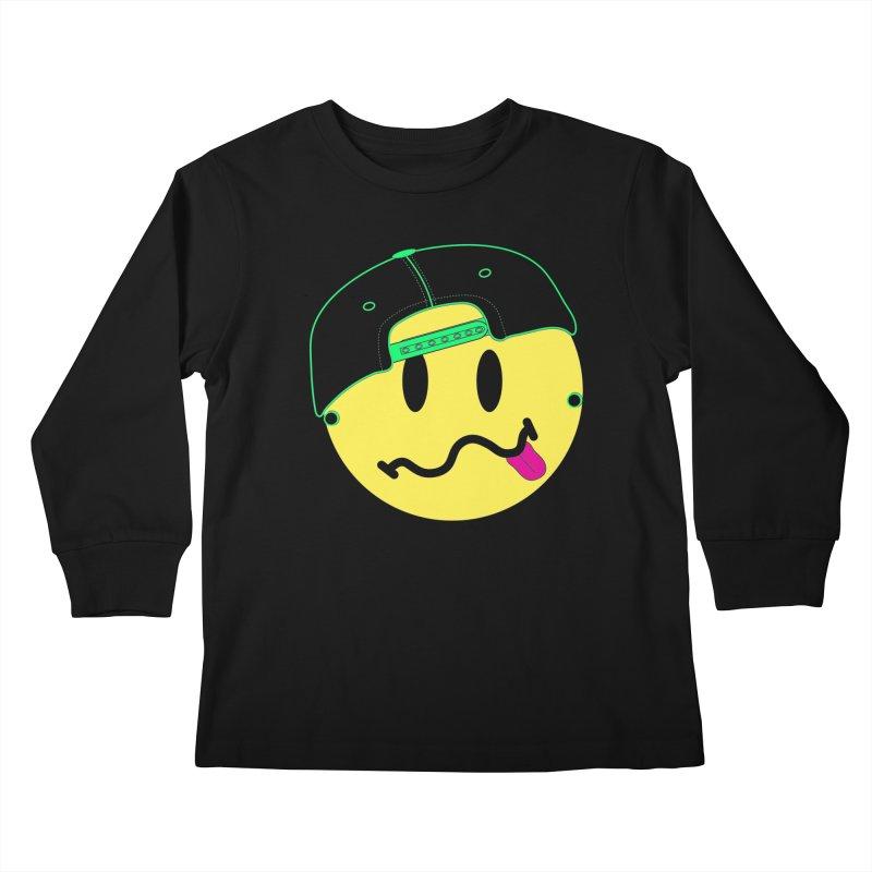 Pop Punk Kid in Black Kids Longsleeve T-Shirt by It's Me Stevie Leigh