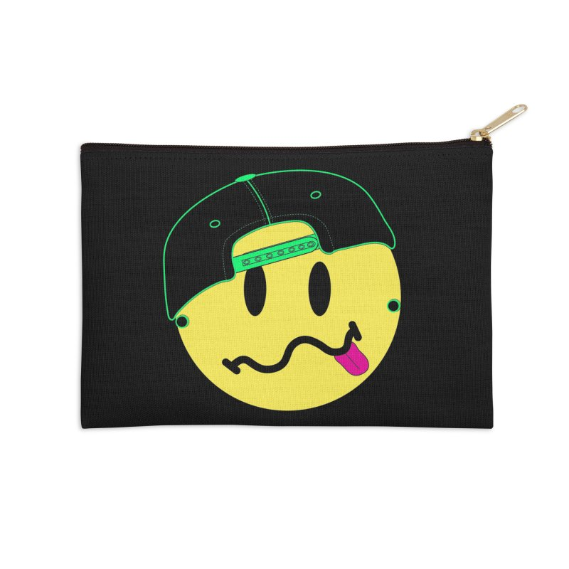 Pop Punk Kid in Black Accessories Zip Pouch by It's Me Stevie Leigh