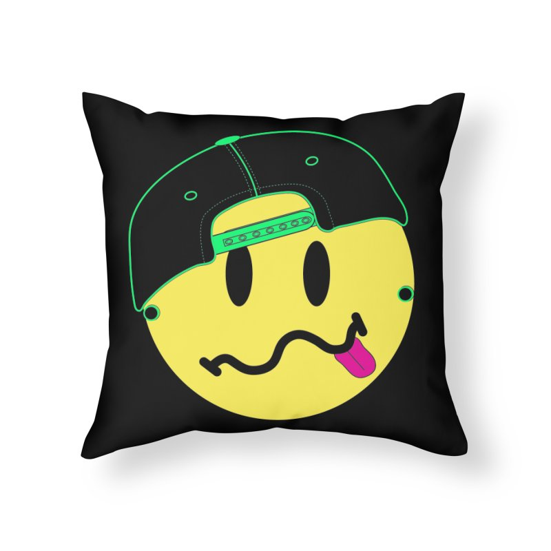 Pop Punk Kid in Black Home Throw Pillow by It's Me Stevie Leigh