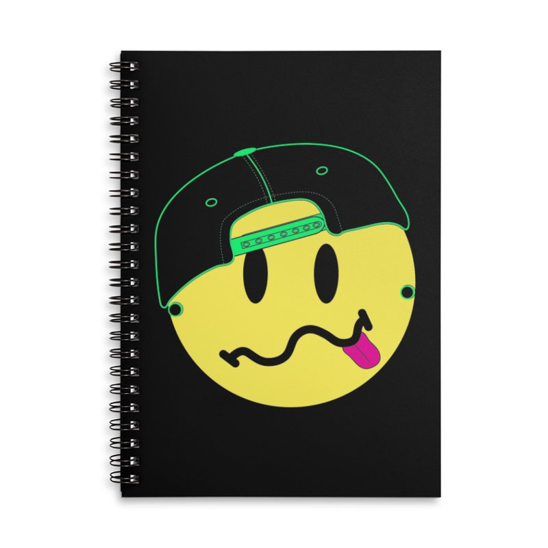 Pop Punk Kid in Black Accessories Lined Spiral Notebook by It's Me Stevie Leigh