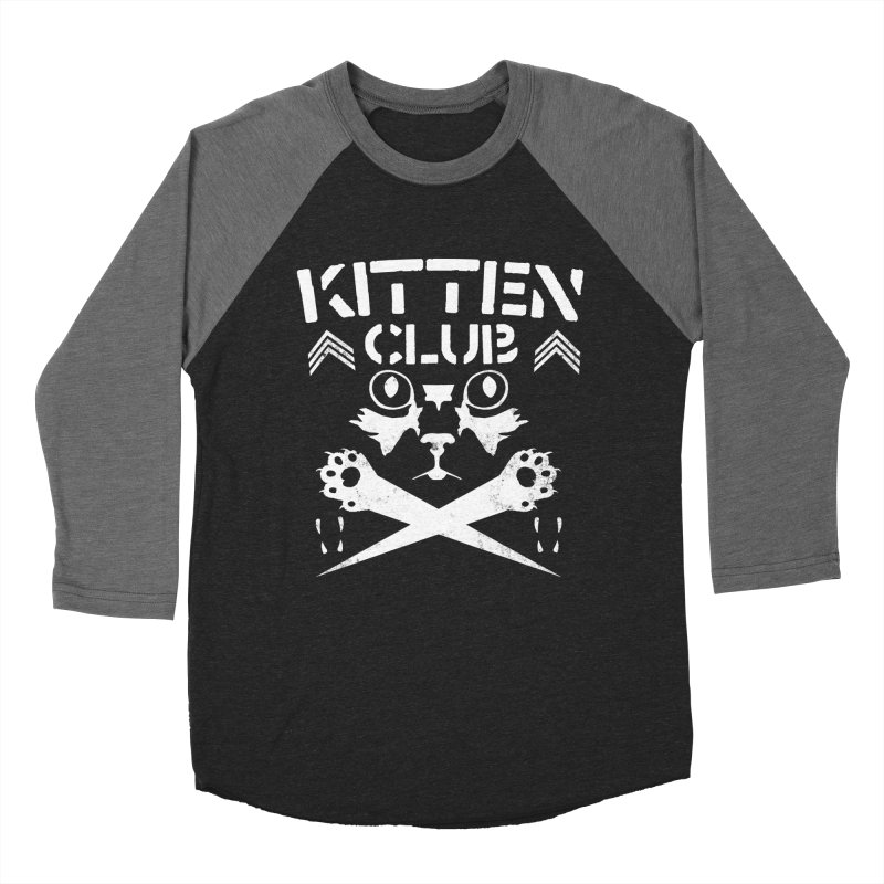 Kitten Club Men's Baseball Triblend T-Shirt by Stevie Richards Artist Shop